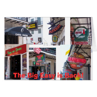 The Big Easy is Back Greeting Card