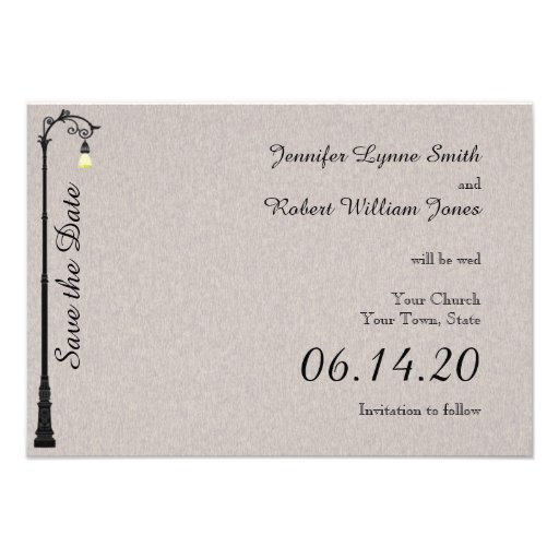 The Big Easy Wedding Save the Date Custom Announcements