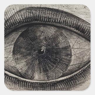 The Big Eye Square Sticker