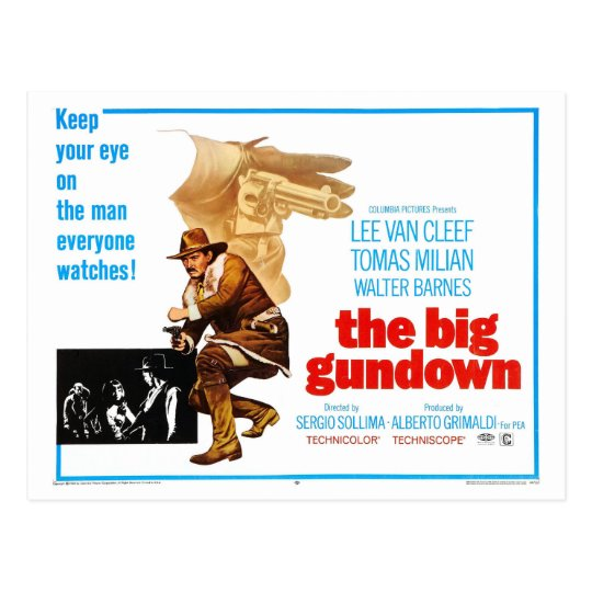 THE BIG GUNDOWN POSTCARD