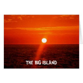 The BIG Island - Hawaii Card
