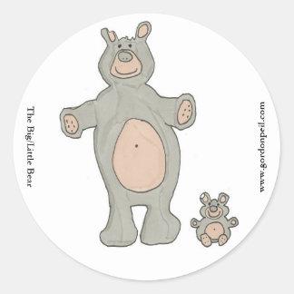 The Big/Little Bear Round Sticker