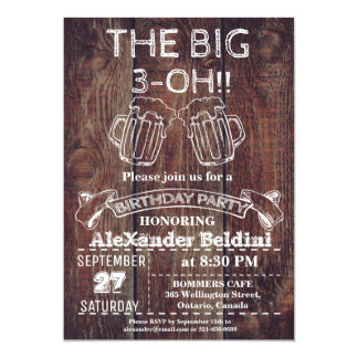 THE BIG…- OH BIRTHDAY PARTY INVITATION FOR ANY AGE