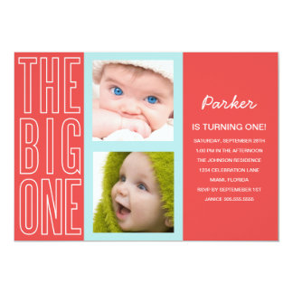THE BIG ONE IN RED | FIRST BIRTHDAY INVITATION