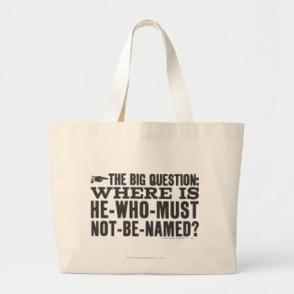 The Big Question Large Tote Bag
