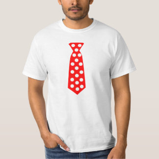 The Big Red and White Polka Dot Tie. Fun Pop Art. T Shirt