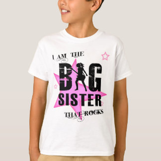 The big sister that rocks! tee shirts