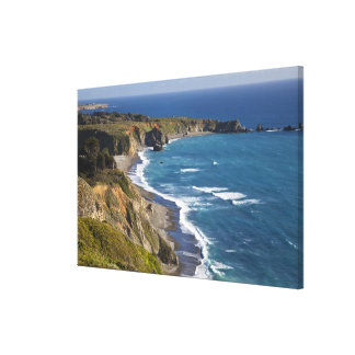The Big Sur coastline in California, USA Stretched Canvas Print