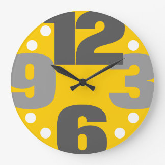 The Big Time - yellow Large Clock