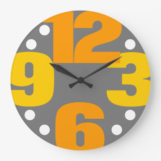 The Big Time - yellow Wallclocks