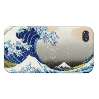 The big wave off Kanagawa Katsushika Hokusa iPhone 4 Case