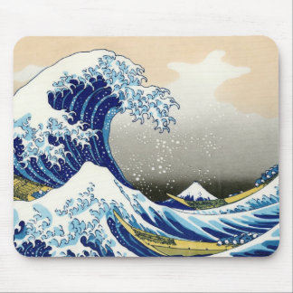 The big wave off Kanagawa Katsushika Hokusai Mouse Mat
