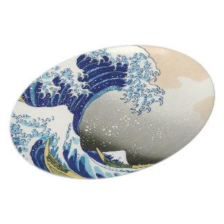 The big wave off Kanagawa Katsushika Hokusai Plate