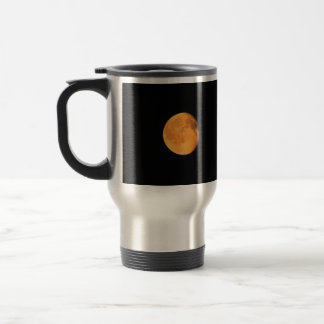 The Big Yellow Moon; No Text Stainless Steel Travel Mug