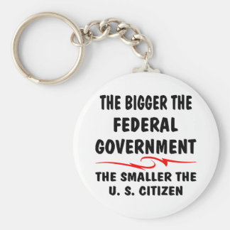The Bigger Fed Gov The Smaller The US Citizen Basic Round Button Key Ring