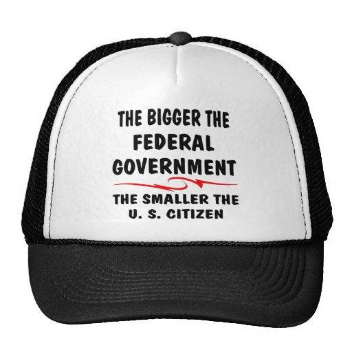 The Bigger Fed Gov The Smaller The US Citizen Trucker Hat