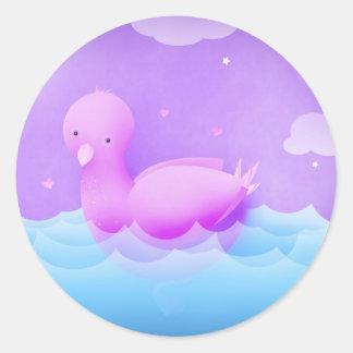 The biggest bird bath -stickers round sticker