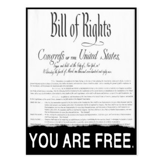 The Bill of Rights Postcard