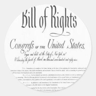The Bill of Rights Round Sticker