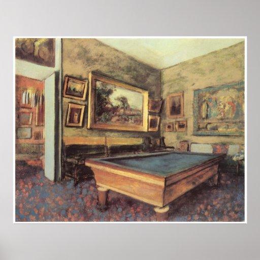 The Billiard Room at Menil-Hubert, 1892, Degas Poster