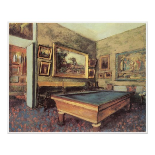 The Billiard Room at Menil-Hubert, 1892, Degas Poster