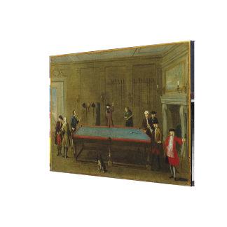 The Billiard Room (oil on canvas) Canvas Prints