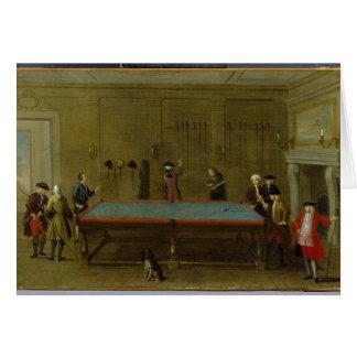 The Billiard Room (oil on canvas) Greeting Card