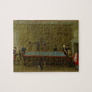 The Billiard Room (oil on canvas) Jigsaw Puzzle