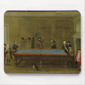 The Billiard Room oil on canvas Mouse Pad