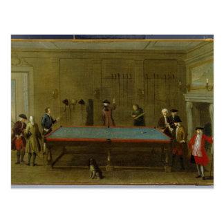 The Billiard Room (oil on canvas) Postcard