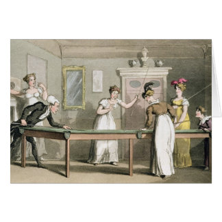 The Billiard Table, from 'The Tour of Dr Syntax in Card