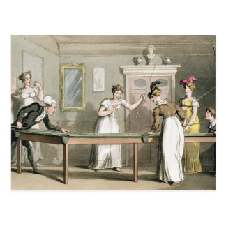 The Billiard Table, from 'The Tour of Dr Syntax in Postcard