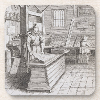 The bindery of Laurens Janszoon Koster, engraved b Coaster