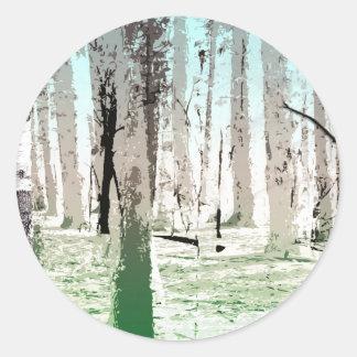 The Birch Forest Classic Round Sticker