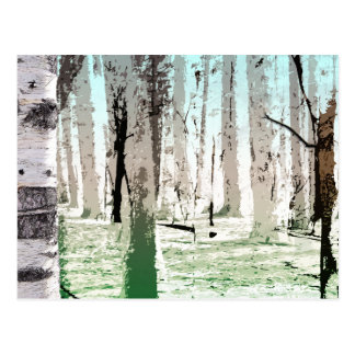 The Birch Forest Postcard
