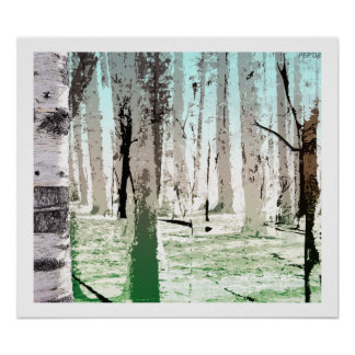 The Birch Forest Poster