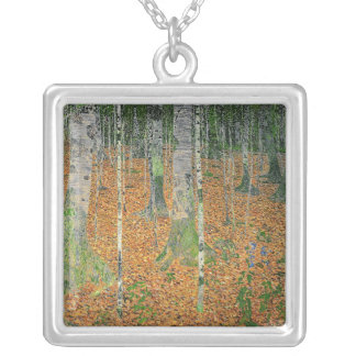 The Birch Wood, 1903 Silver Plated Necklace