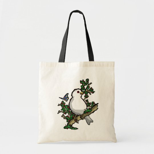 the bird and the butterfly tote bag