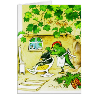 The Bird Barber Greeting Card