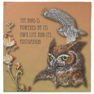 The Bird Is Powered By Its Own Life And Its Motiva Napkin