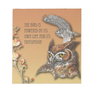 The Bird Is Powered By Its Own Life And Its Motiva Notepad