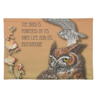 The Bird Is Powered By Its Own Life And Its Motiva Placemat