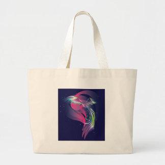 The bird. Northern lights. Jumbo Tote Bag