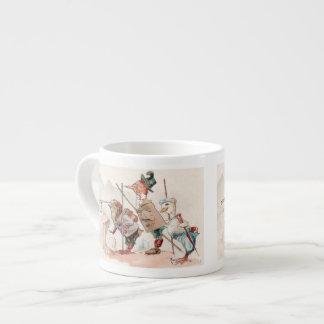 The Birder's Expresso -Funny Vintage Bird Art 6 Oz Ceramic Espresso Cup