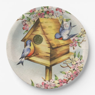 The Birdhouse Paper Plate