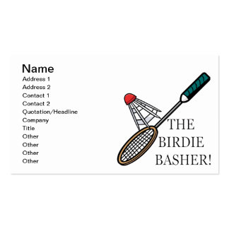 The Birdie Basher Pack Of Standard Business Cards