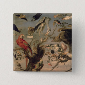 The Bird's Concert 15 Cm Square Badge