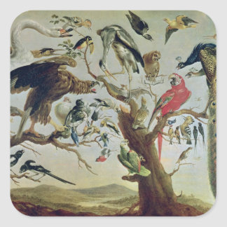The Bird's Concert Square Sticker