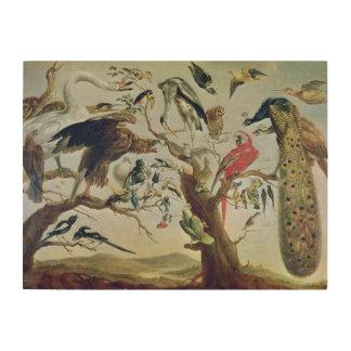 The Bird's Concert Wood Canvas