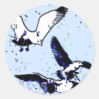 The Birds Round Sticker